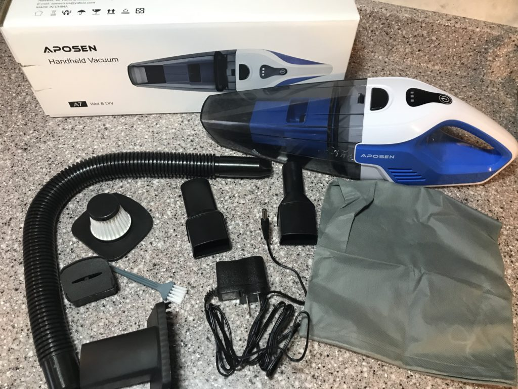 Aposen handheld vacuum cleaner with accessories