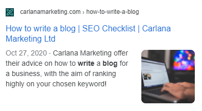 How to write a blog post for businesses, Carlana Marketing