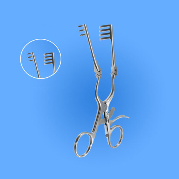 Surgical Beckman-Weitlaner Retractors with Hinged Blades