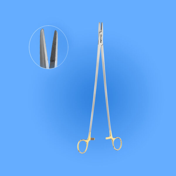 Surgical Obese Masson Needle Holder Tungsten Carbide