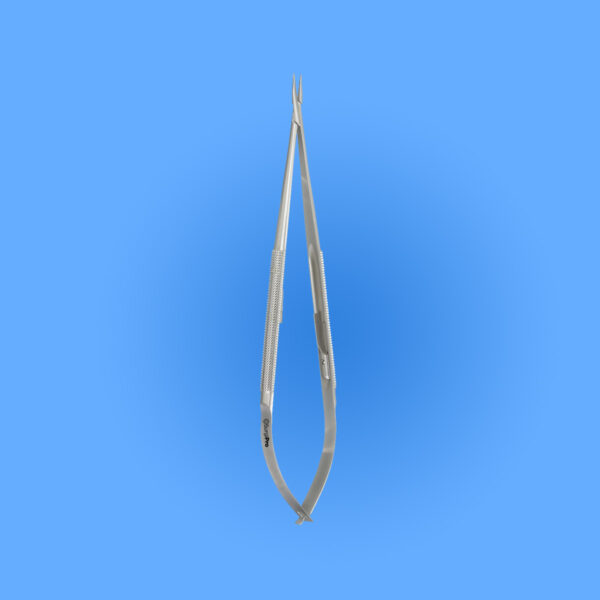 Surgical Micro Surgery Needle Holders with Round Handle, 0.6 mm Tips