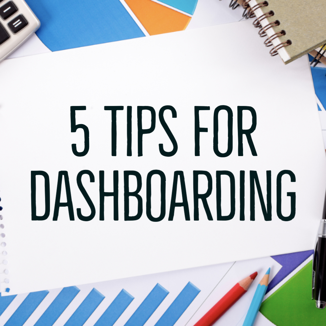 Stationery with 5 Tips For Dashbaording text in the middle