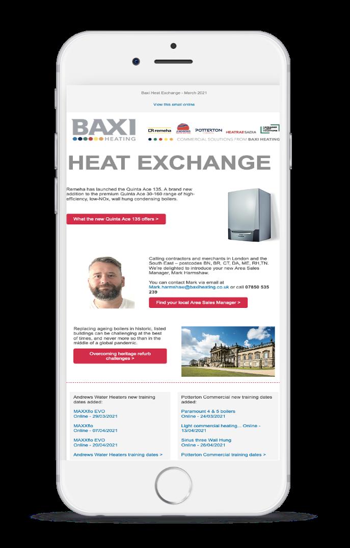 Baxi test email screenshot B inside iPhone