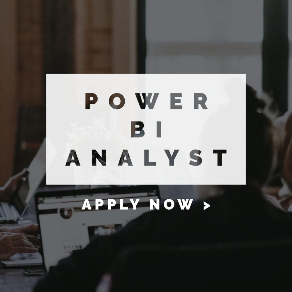 Power BI Analyst Apply Now infographic