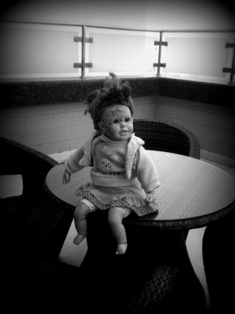 The Scary Doll in its creepy position