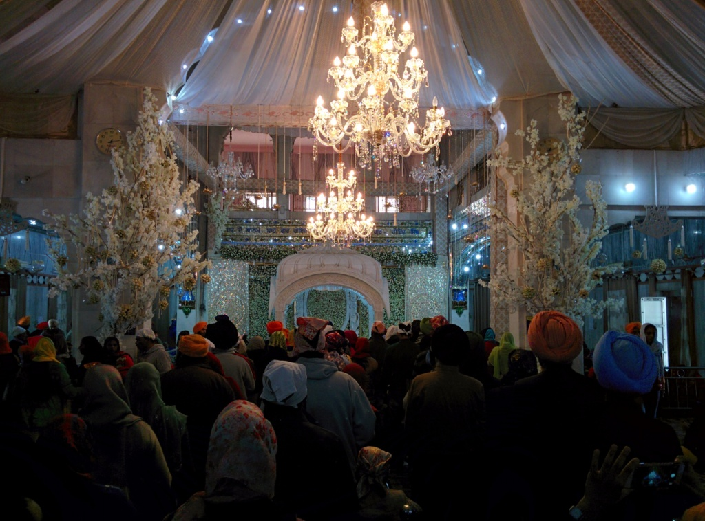 Inside the Nada Sahib Gurudwara in Panchkula