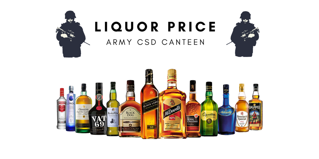 Army Canteen Price List Liquor