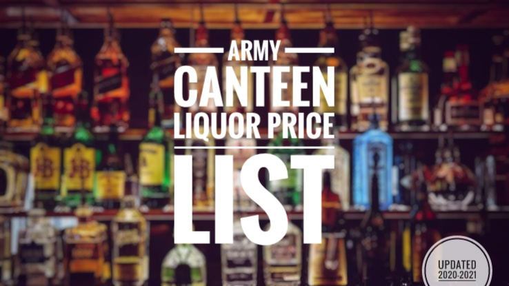 ARMY CANTEEN LIQUOR PRICE LIST