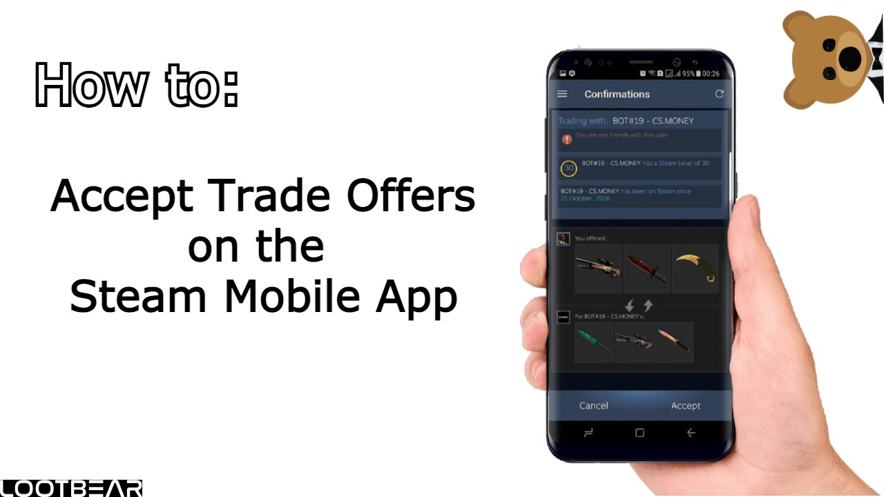 how to accept trader offer on steam mobile app