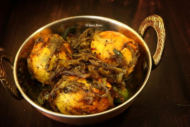 egg roast recipe | spicy egg roast dry | egg roast without tomato