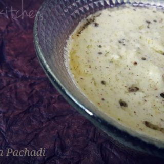 Raw papaya Pachadi