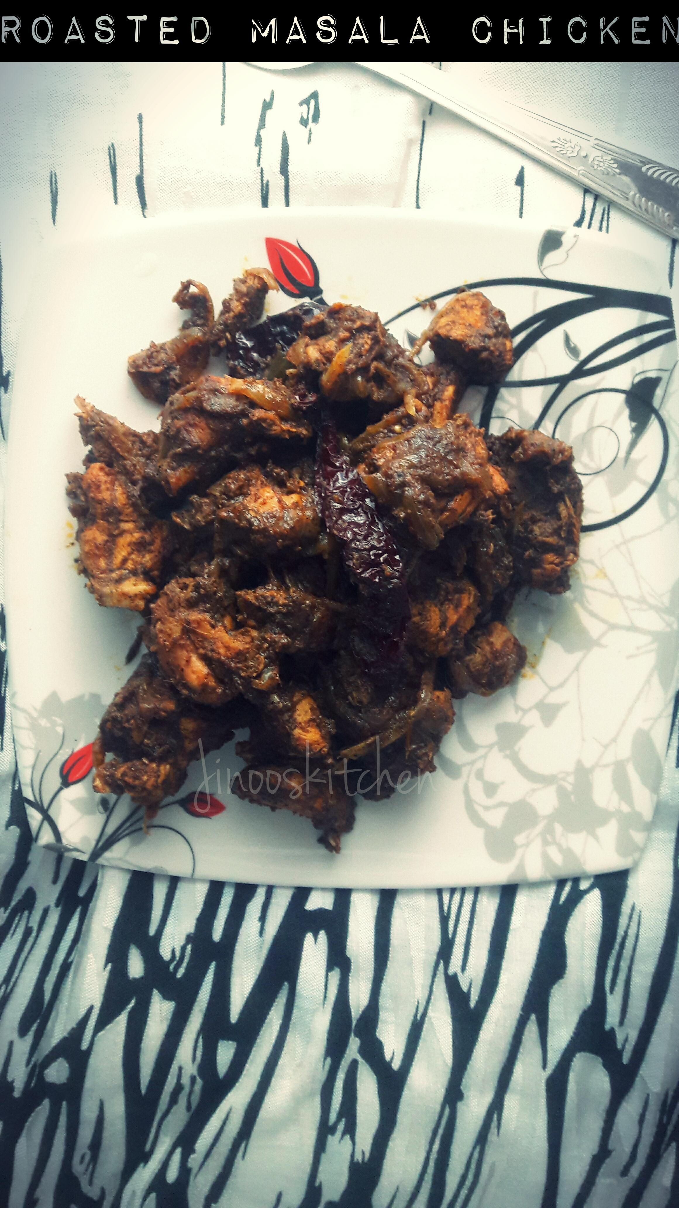 Roasted masala chicken fry