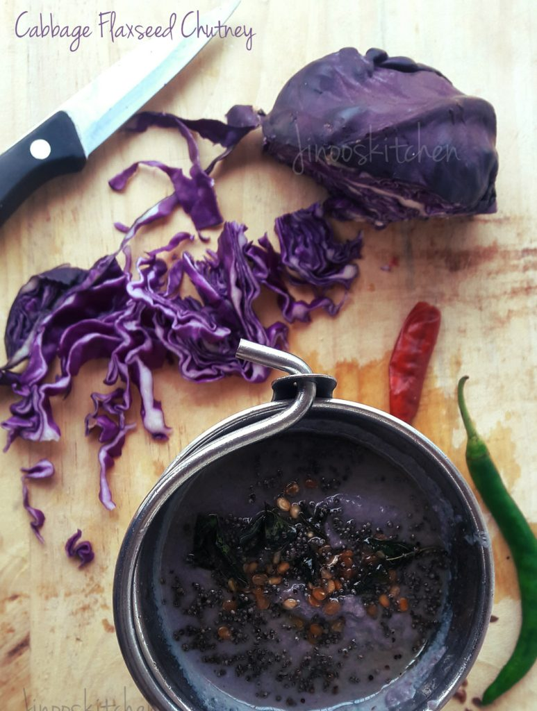 Cabbage flaxseed chutney