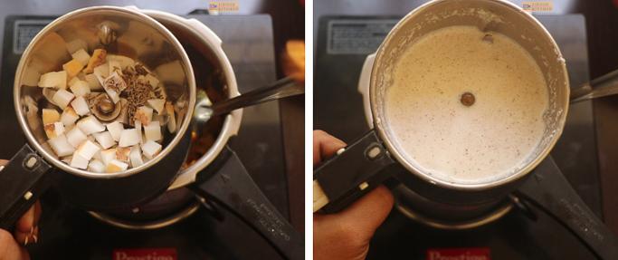 grind coconut and cumin chakka mulakushyam recipe