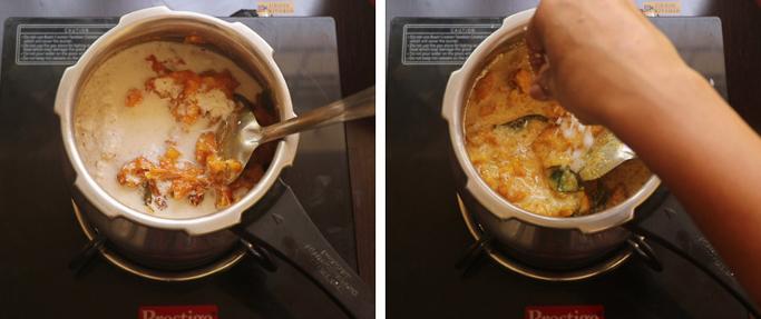 mix the coconut paste chakka mulakushyam recipe