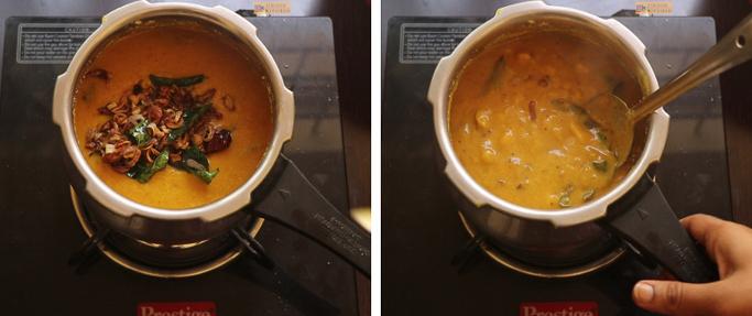add tempering chakka mulakushyam recipe