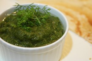 Green chilly Chutney for dosa