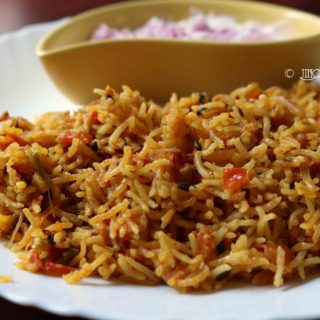 Tomato Biryani with coconut milk | Thakkali biryani