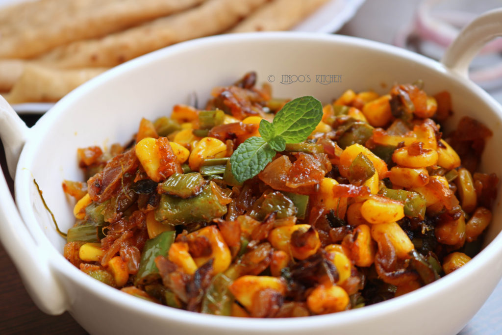 Corn Capsicum sabji | Corn recipes indian