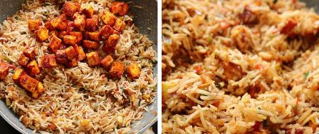 Paneer fried rice recipe