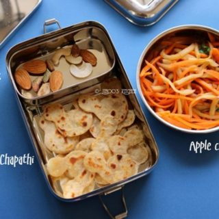 Kids lunch box recipes #1 Apple carrot salad and potato chapathi