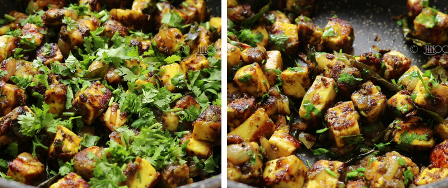 Paneer pepper fry recipe