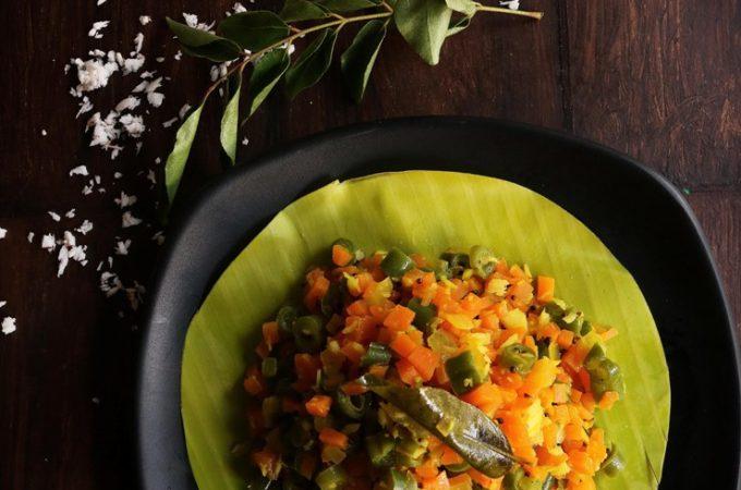Carrot beans thoran recipe