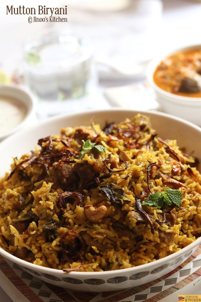 Easy mutton biryani recipe in pressure cooker with step by step photos
