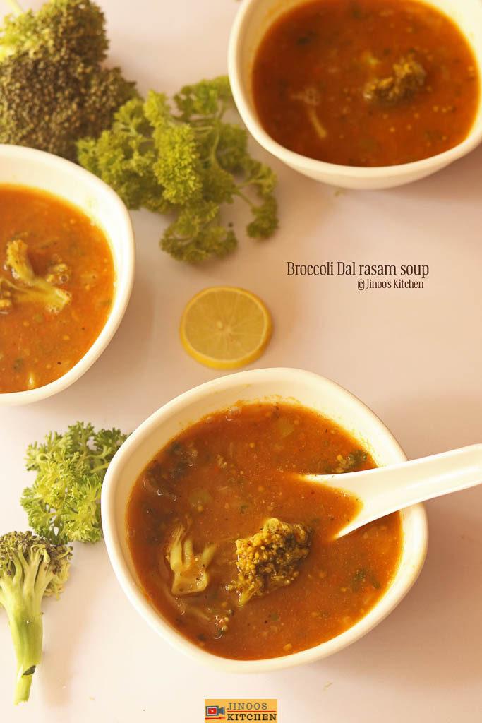 broccoli dal rasam soup recipe