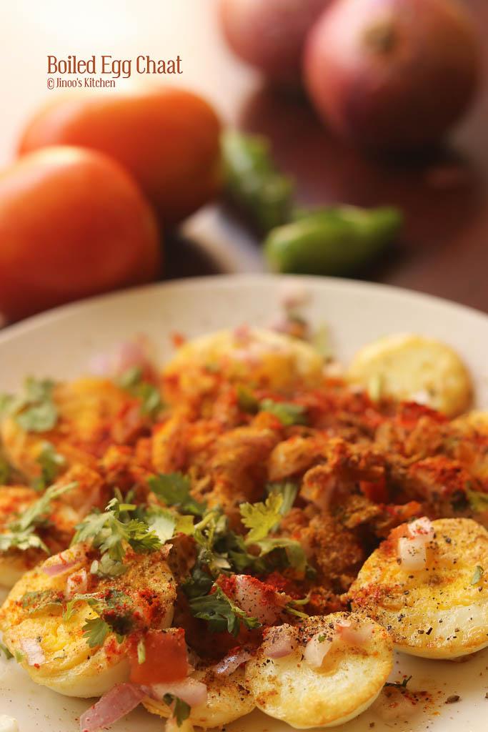 Boiled egg chaat recipe Egg snacks recipe