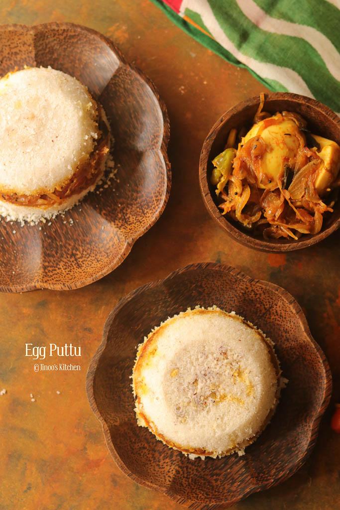 Mutta Puttu recipe   Egg Masala stuffed Puttu