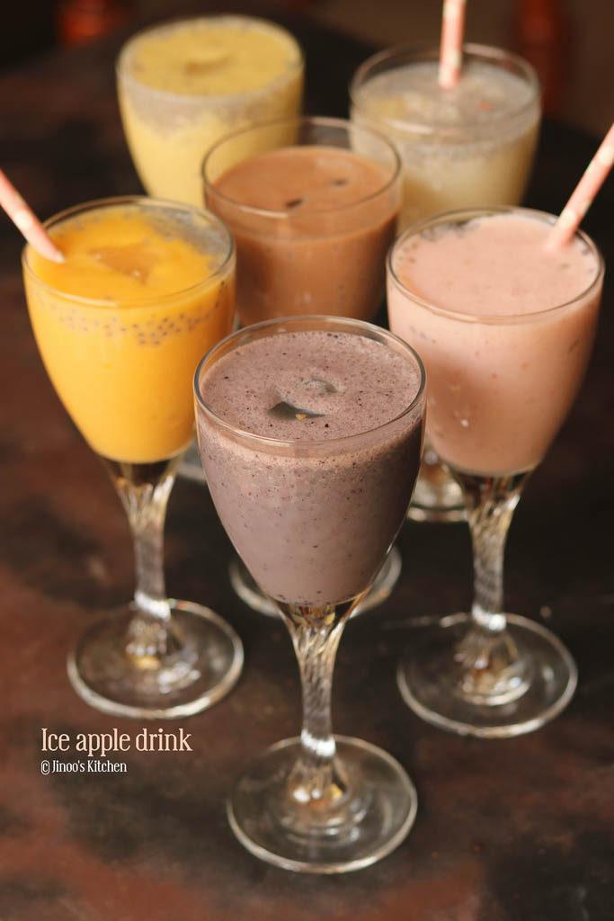 nungu paal Flavoured ice apple drink recipe