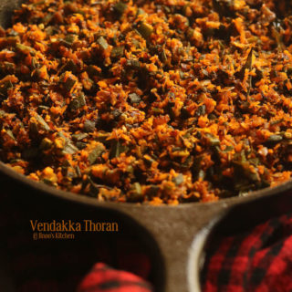 vendakka thoran recipe