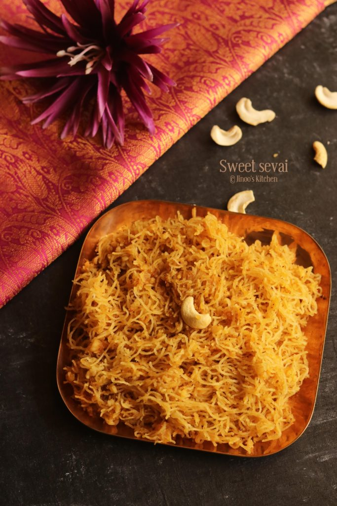 Sweet Idiyappam Recipe with jaggery and coconut