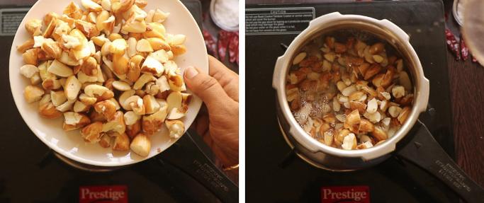 pressure cook 1 chakkakuru mezhukkupuratti