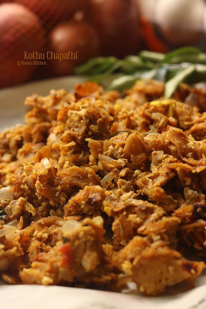 kothu chapathi recipe