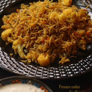 . pressure cooker vegetable biryani recipe