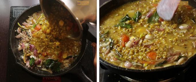 add dal Cherupayar curry