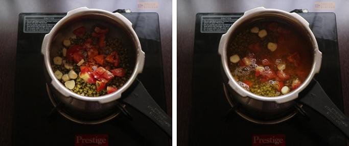 Cook the legume Cherupayar curry