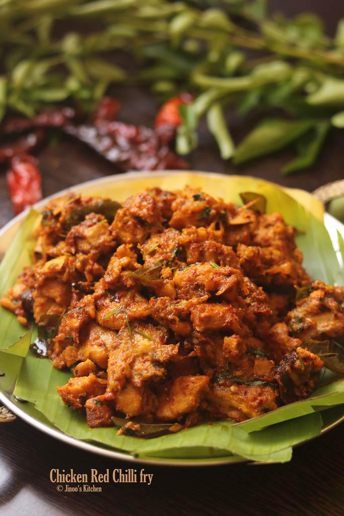 spicy chicken fry recipe Kerala style