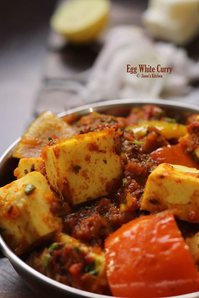 Kadai Egg white curry recipe