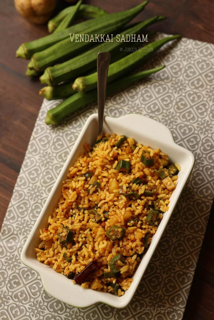 aloo bhindi rice