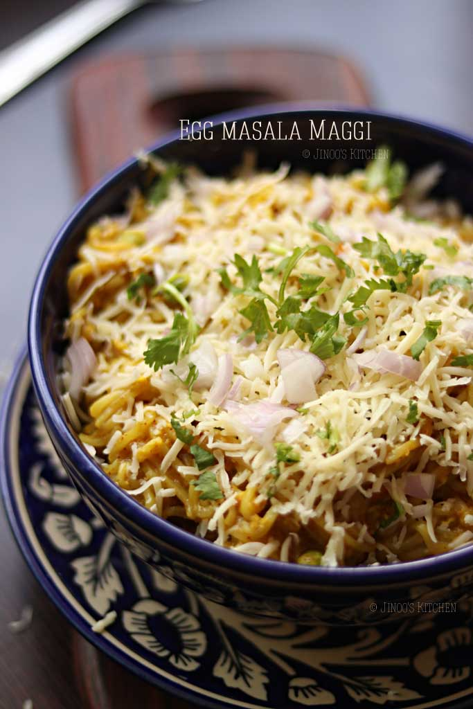 egg and cheese maggi recipe