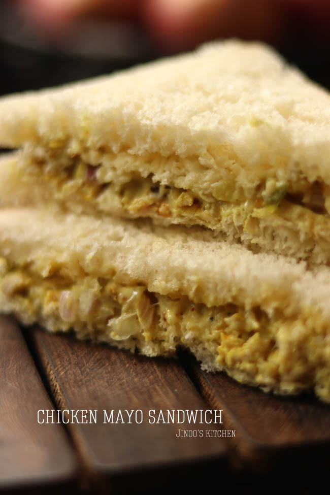 Chicken sandwich recipe | Chicken mayo sandwich