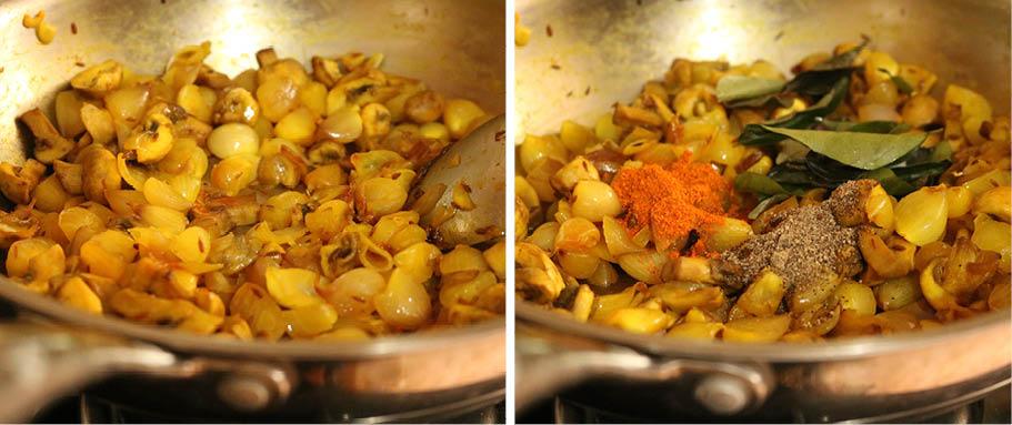mushroom onion fry