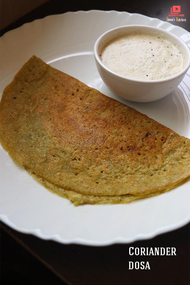 coriander dosa recipe