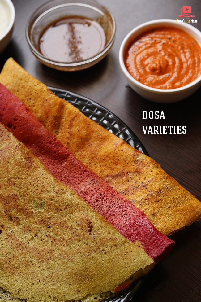 Dosa varieties with same dosa batter