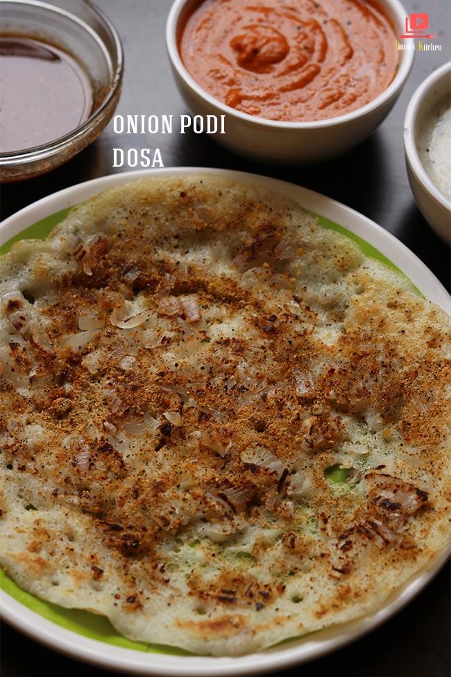onion podi dosa recipe