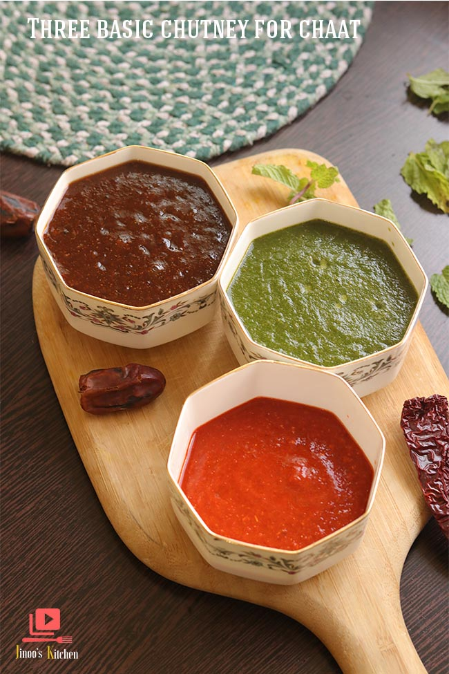 three basic chutney for chaat final