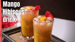 mango hibiscus drink